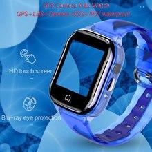 K21 akıllı GPS saati çocuklar 2019 yeni IP67 su geçirmez SOS telefon akıllı saat çocuk GPS saat Fit SIM kart kamera Smartwatch
