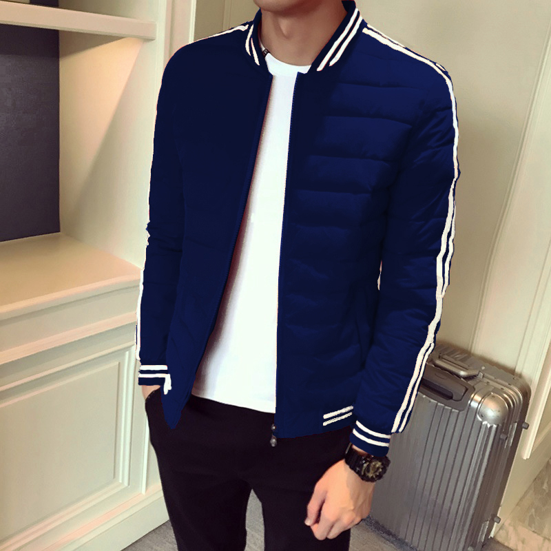 ZOGAA 2019 Fashion Men's Cotton   Parkas   Coat Men New Striped Short Stylish Jacket Thicken Cotton Coat Men's Clothes Outwear Men