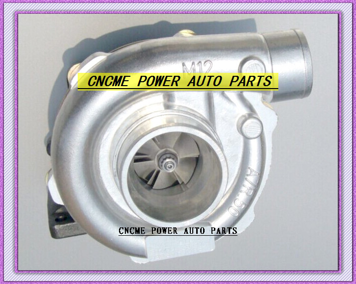TURBO T3 T4 T3T4 TO4E 5 bolt AR .63 comp AR .50 no wastegate water cooled Turbocharger For Universal Cars 170-155kW- (3)
