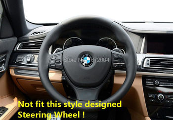 FOR BMW 5 Series F10 520 2011-2014 Chrome Steering Wheel Switch Cover trim 3PCS