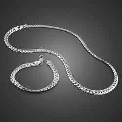 Nueva pulsera/Collar de 7MM a la moda para hombres. 100% sólida plata 925 de joyería para hombre, dije de plata esterlina, regalo de joyería