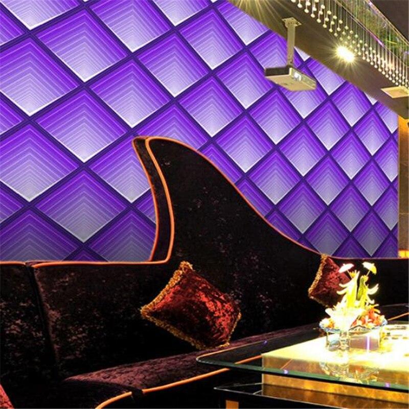 Beibehang coloré violet brillant KTV bar hôtel papier peint étanche avant divertissement club feuille d'or feuille d'argent papier peint