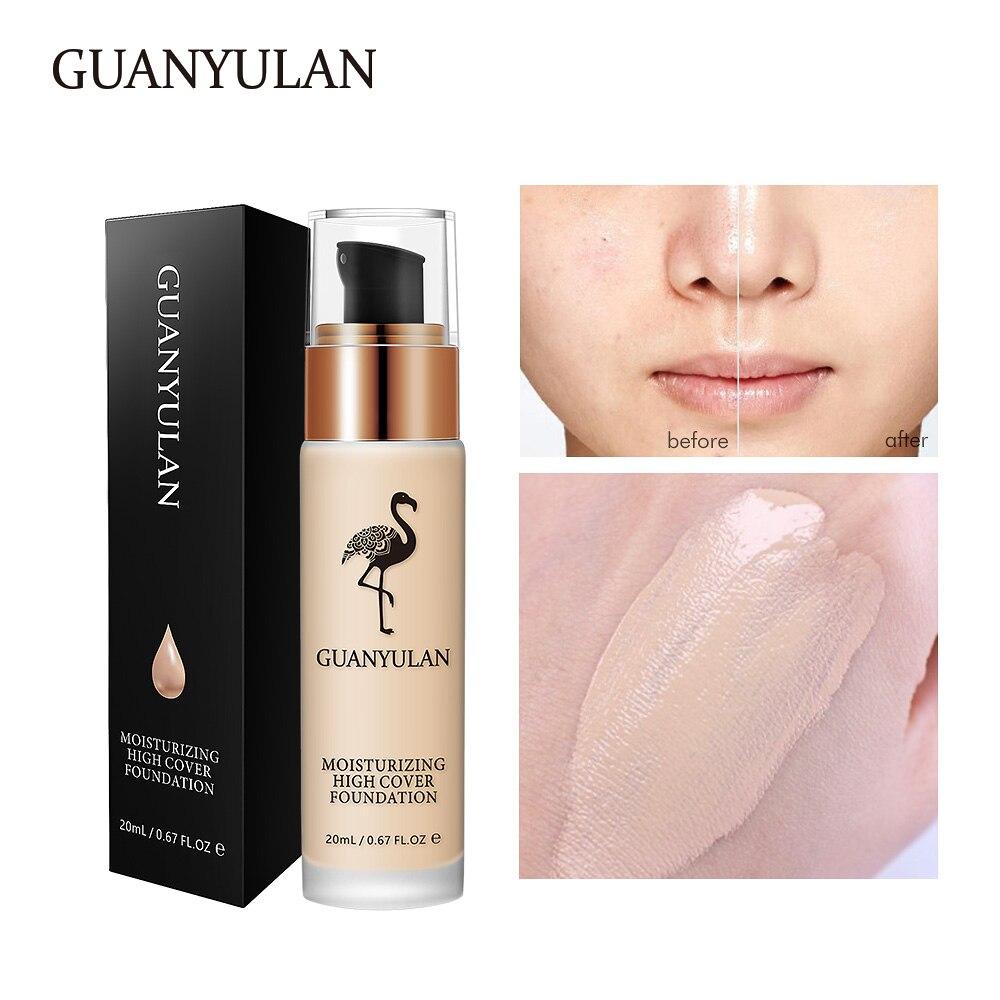 GUANYULAN fondation liquide Invisible Couverture Complète Maquillage Correcteur Blanchiment Hydratant maquillage résistant à l'eau Fondation 20 ml