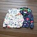 2016 Niñas Enrollan la Capa Cardigan Chaquetas de Los Muchachos Topolino Chica Trench Coat chaqueta para Niños Outwear Viento y Lluvia en Primavera Otoño 3-8Y