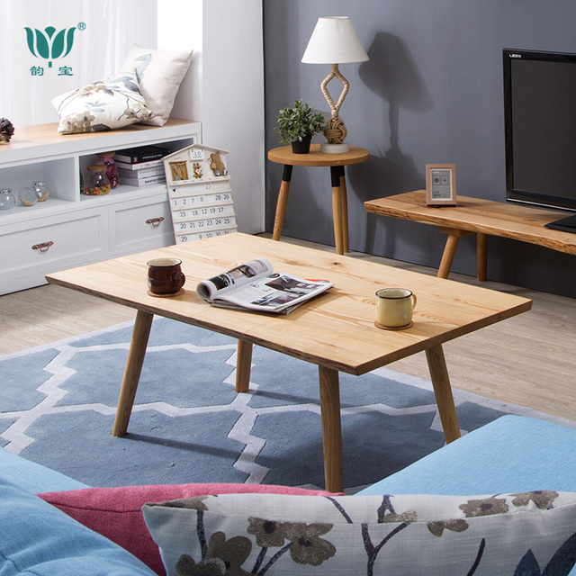 Ash solid wood furniture imports rectangular small apartment living room  coffee table tea CT072 teasideend