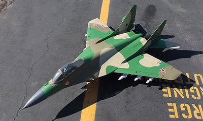 ESCALA Skyflight MIG29 RC Modelo de Avión ARF PNP Verde Doble 70 MM FED 360 Vector de la Boquilla