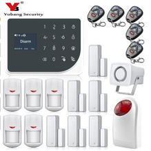 YoBang Security Home Security GSM Radio Frequency Alarm System Android IOS APP Controls Sensor Detector Russia Spain Naderlannd