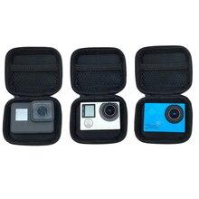 Портативный мини коробка сумка в Xiaoyi спорта камеры водонепроницаемый чехол для Xiaomi Йи 4К GoPro герой 7 6 5 4 3 стиль доставка SJ4000 экен H9 аксессуары