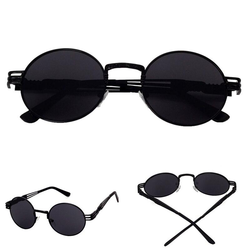 Retro Vintage Mulheres Homens Óculos de Sol Espelho Redondo Lente Oculos de  sol Unisex Aviator Polit Espelhado Lens Proteção UV Óculos de Sol em Óculos  de ... 7e8590beac