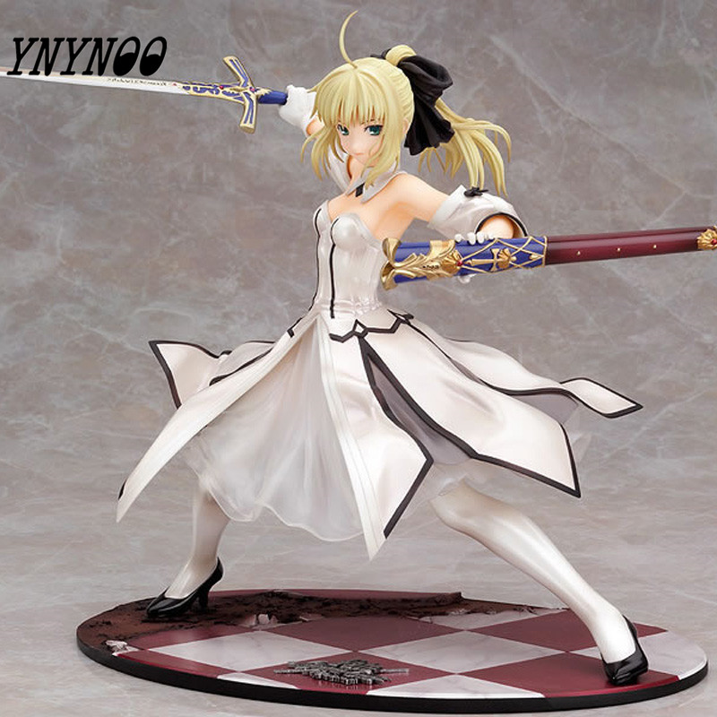 YNYNOO Japanese Anime Figures Fate stay night Saber Lily Doll the Sword of Victory Aciton Figure Model Toy 21cm PVC 12cm pvc figure toy the souls of tauren troll doll model decoration 3pcs set