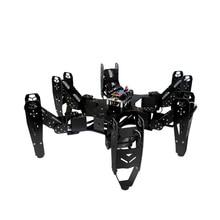 6 patas de araña diy suite de desarrollo de programación de robot metal gear digital servo cr-6 control remoto biónico educación enseñanza