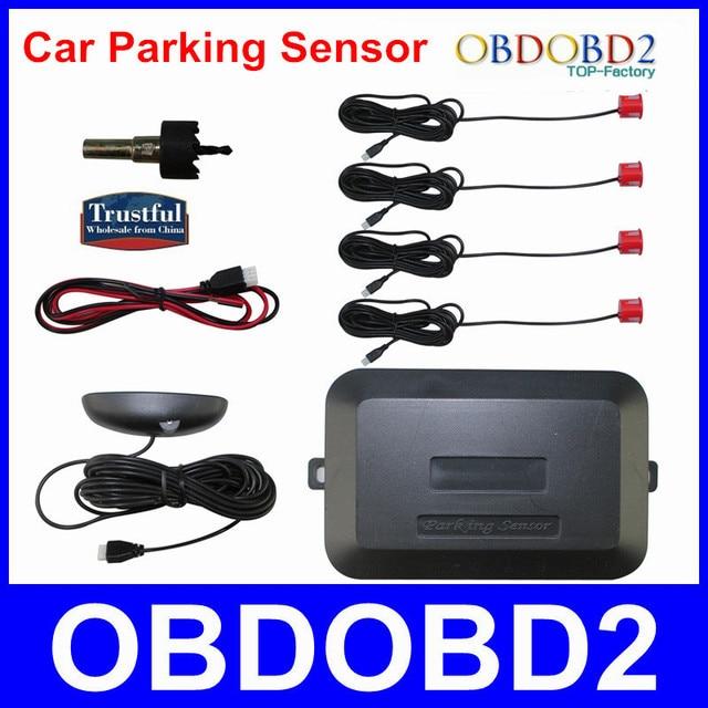 Strongly Recommand Car Parking Sensor LED Reverse Parking Radar System Black light Display+4 Sensor Double CUP 4 Color Optional
