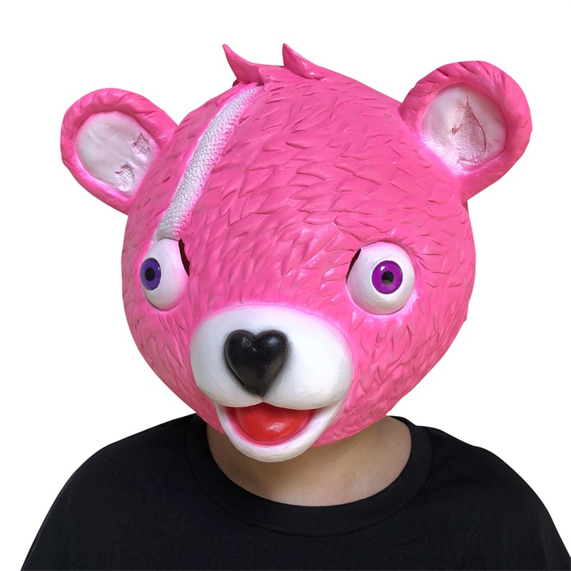 High Quality Latex Halloween Party Cosplay Costume  Full Face Bear Head Mask Color Helmet Adult  Props For Carnival Purim Game