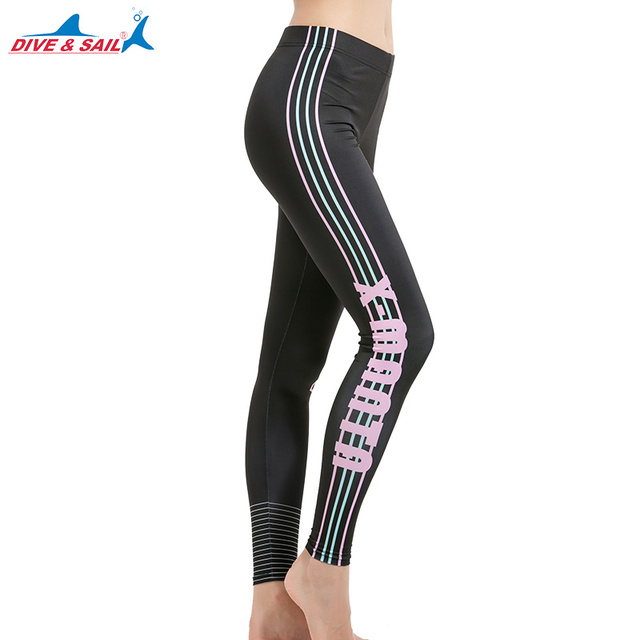 32159ecf9d3a0 Women's Long Swimming Pants Swim Tights Elastic Leggings UPF 50+ Swim Pants  High Waisted Surfing