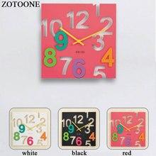 ZOTOONE DIY 3D Vinyl Wall Clock Modern Design Home Decor Fashion Silent on The Watch For Living Room Decorative D