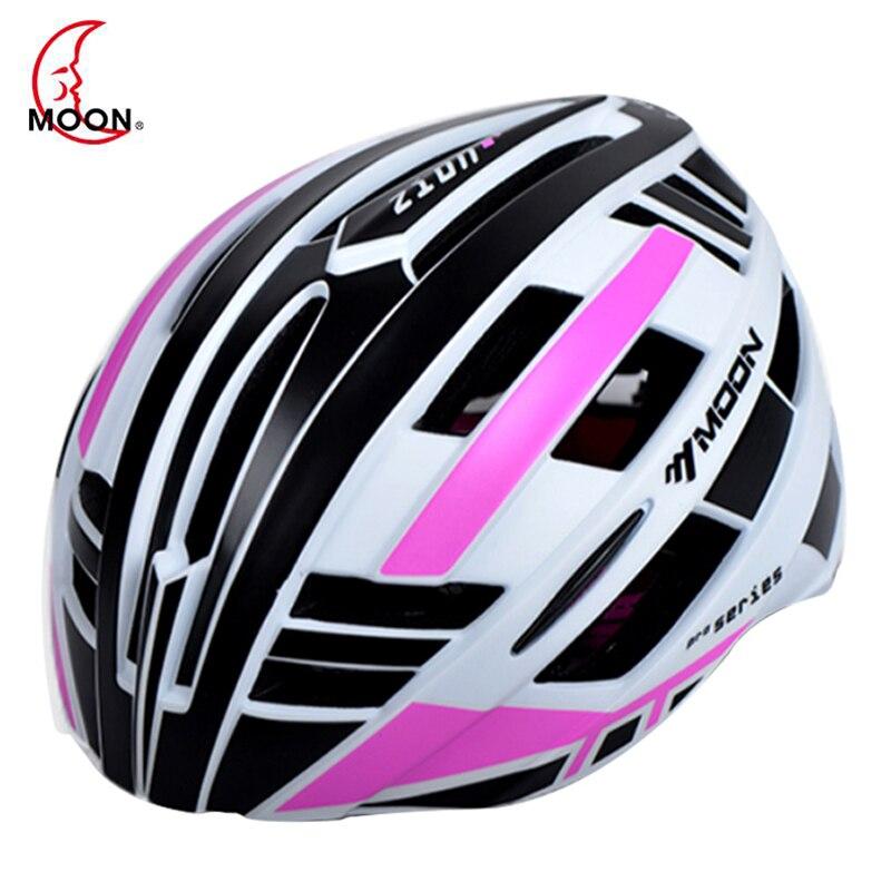 Луна <font><b>LED</b></font> Аварийные огни Велоспорт шлем Дорога Гора in-mold Велосипедный шлем сверхлегкий велосипед шлем Casco Ciclismo