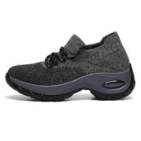 New 2019 Spring Women Sneakers Fashion Lacing Breathable Mesh Casual Shoes Platform Sneakers For Women Sock Sneakers Shoes A1