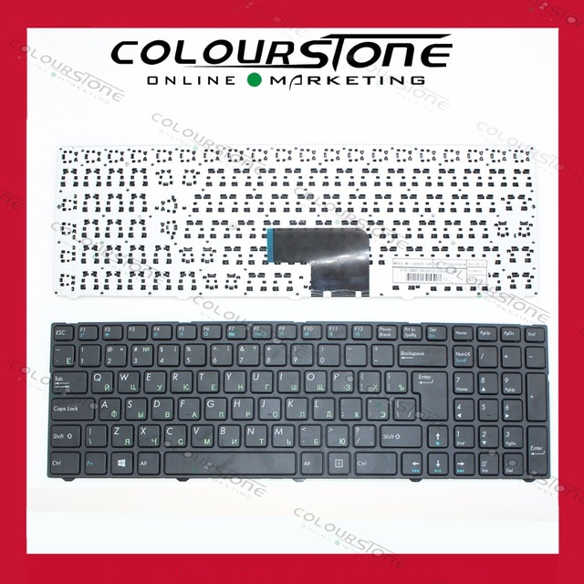 RUSSIA Laptop Keyboard For Pegatron C15 black with black frame 0KN0-CN4RU12 MP-13A83SU-5283