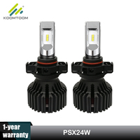 Koomtoom Led Bulb PSX24W Led Fog Light Lamp 12V 6500K 8000Lm 60W ZES K16 for Jeep Wrangler Dodge Grand Cherokee Toyota Fiat Bora