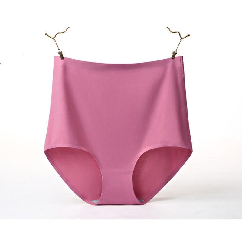 Hw307 calcinha feminina de seda gelo intimates 3d cintura alta briefs lingerie sexy sem costura cueca grande tamanho para mulher