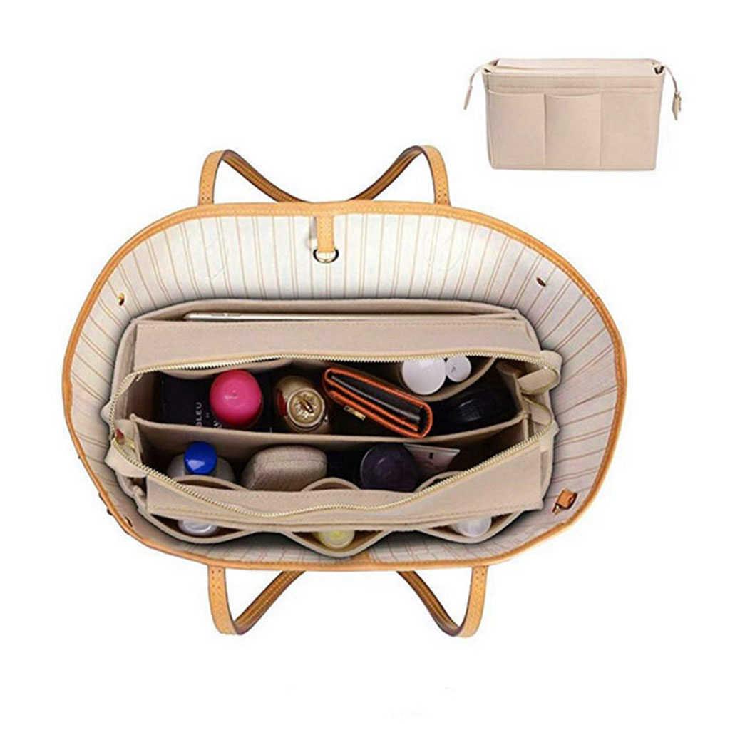 Wysokiej jakości torebka wielofunkcyjna torba z tkaniny filcowej torebka wkładka pokrowiec Case organizery strukturalne