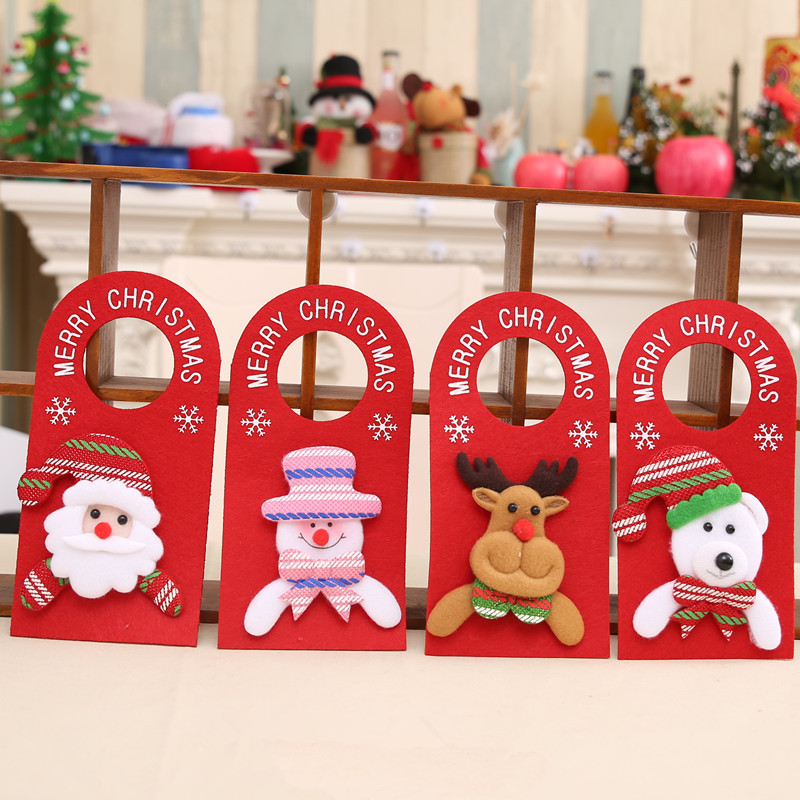 Wine Bottle Covers Home & Garden Dedicated New-1pcs Table Decorations Wine Bottle Cover Ornament Wedding Table Decorations Novelty Decoration Snowman Santa Clause Lovely