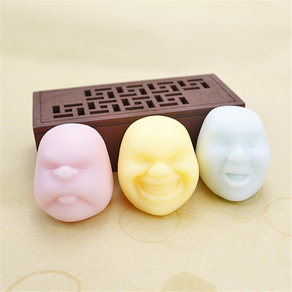Anti Stress Ball Funny Gadgets Anti Stress Toys Vent Human Face Ball Caomaru Geek Surprise Adult Toys Color Random