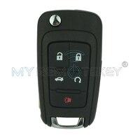 315 Mhz 13500224 Auto virar remoto da chave do carro 5 botão HU100 lâmina chave FCC V27 01080514 para Buick Chevrolet remtekey