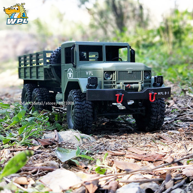 WPL B16 RC Car WPL 1:16 RC Crawler Car 2.4G Mini Off-Road Remote Control Car 15km/H Top Speed Mini RC Monster Truck 6WD RTR