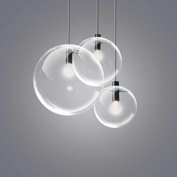 Modern Glass Ball Single Droplights Nordic Round Pendant Lights Fixture Restaurant Shop Cafes Hanging Lamps Home Indoor Lighting aluminium modern hanging lamps nordic white black pendant lights fixture home indoor lighting dining room restaurant droplights