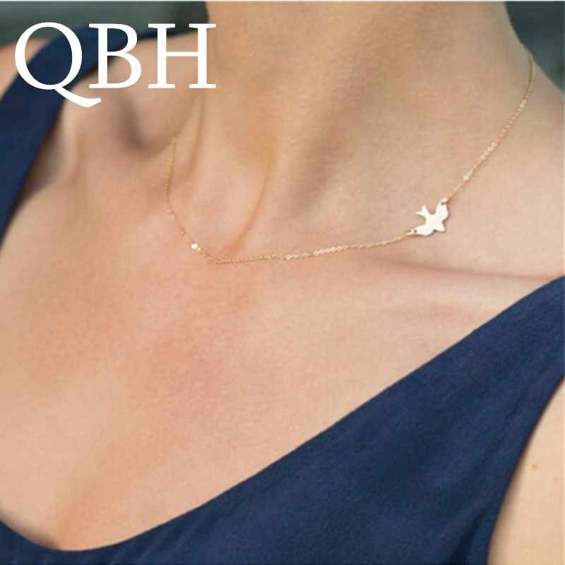 NK765 New Punk Beach Summer Animal Peace Bird Minimalist Dainty Clavicle Chain Necklace For Women Chain Jewelry Gift Collier