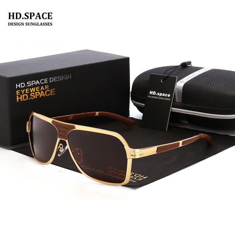 10b902027e7dc1 HD.space 2017 men s polarized sunglasses classic retro large frame sun  glasses for men lunette