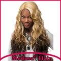 Медуза продукты волос: афро-американской Синтетических парики для женщин Chic Длинные волнистые Mix цвет Афро рапунцель парик Плутон loira SW0240