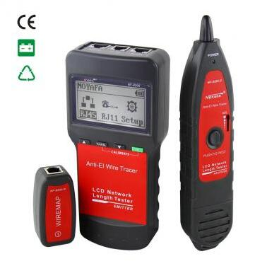Free shipping, NOYAFA NF-8200 LCD Network LAN Cable Tester Cable Continuity Tester inspection Wire Tracker Anti-interference