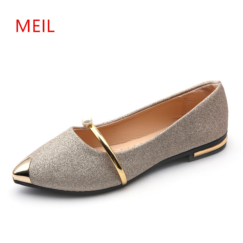 2018 Luxury Brand Spring Summer Ladies Shoes Loafers Women Casual Pointed Toe Breathable Flat Slip On Boats Shoes Ballet Flats odetina 2017 brand fashion women casual flat spring shoes pointed toe ballet flats bowknot slip on loafers ballerinas plus size