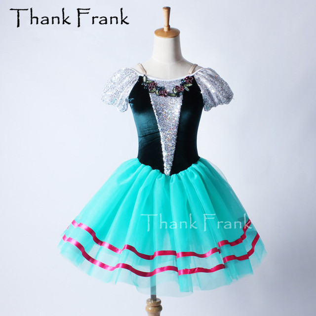 Puff Sleeve Professional Ballet Tutu Dress For Kids Adult Dance Costume C211