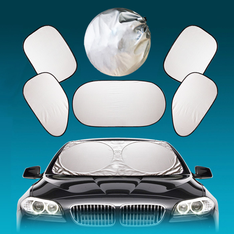 6X Car Sunshade Sun Shade Front Rear Window Film Windshield Visor Cover UV Protect Reflector Car-styling High Quality