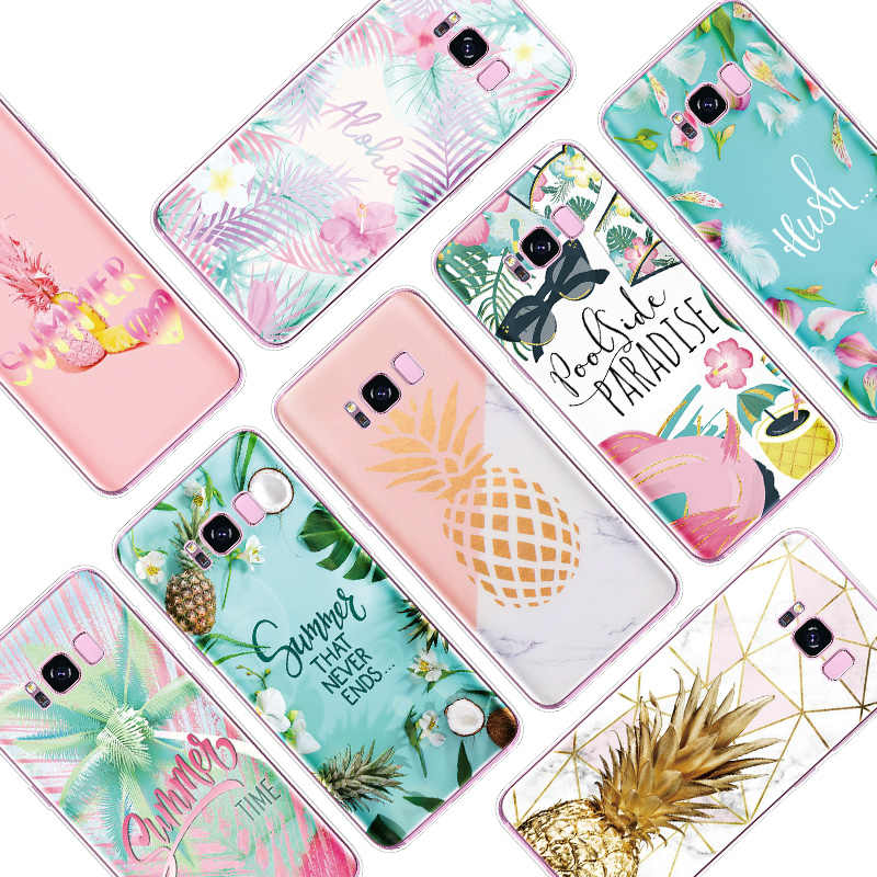 สับปะรด TPU สำหรับ Samsung Galaxy A10 A30 A50 20e A40 A70 A3 A5 A7 2015 2016 2017 A6 A8 A9 plus 2018 Star Note 8 9 4 Coque
