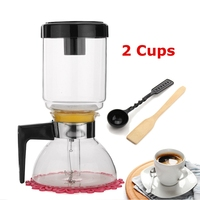 2 Cups Percolators Cold Drip Coffee Maker Iced Drip Coffee Pot Glass Hourglass Coffee Pot  Cold Brew Water Ice Drip Coffee Maker