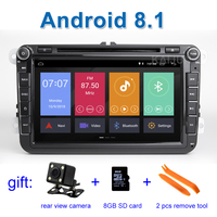 Android 8.1 Car DVD Stereo Player Radio GPS for VW PASSAT CC Jetta Golf 5 6 Tiguan Touran Caddy EOS Sharan polo Leon Toledo