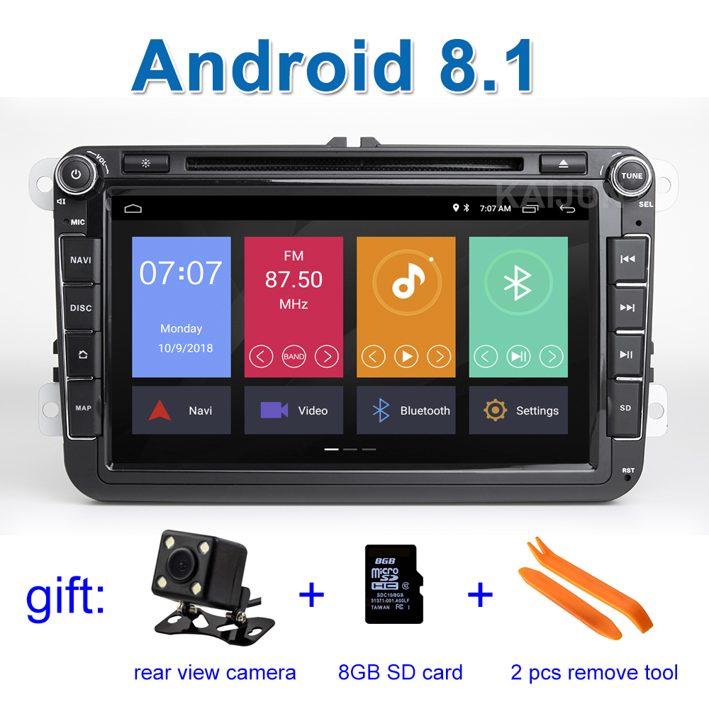 цена на Android 8.1 Car DVD Stereo Player Radio GPS for VW PASSAT CC Jetta Golf 5 6 Tiguan Touran Caddy EOS Sharan polo Leon Toledo