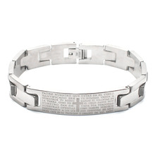European and American Trend Bible Prayer Stainless Steel Bracelet Men Adjustable Cross HCL37