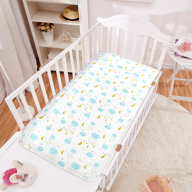 Children's Cotton Changing Pad Baby Diapers Waterproof Sheets Gauze Breathable Diapers