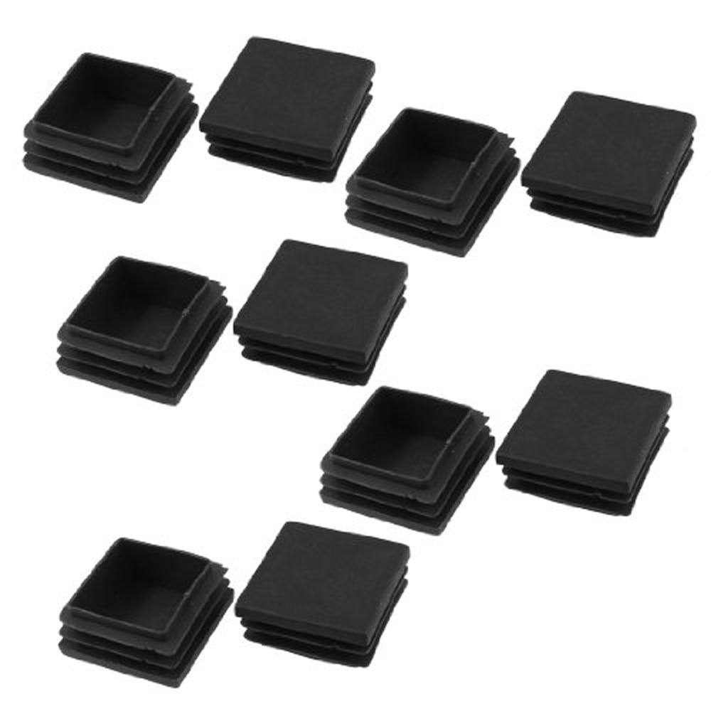 New! 10Pcs Black 40mm X 40mm Plastic Square Tube Inserts End Blanking Caps