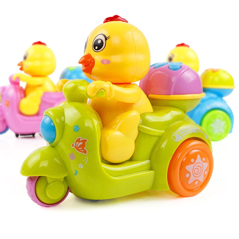 Умный Doy Электрический игрушка-курица имитация игрушка-курица езда мотоцикл пластик Led Intelligent Sound Charm