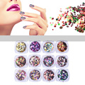 Shiny Round Ultrathin Sequins Colorful Nail Art Glitter Tips UV Gel 3D Nail Decoration Manicure DIY Accessories 1 Box  M03084
