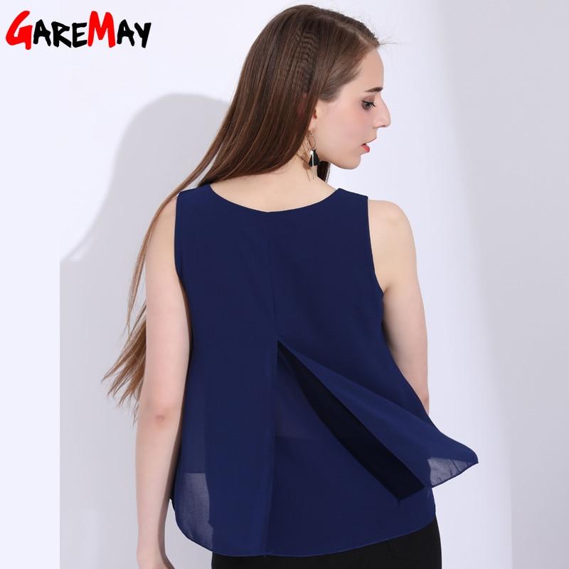 GAREMAY الشيفون المرأة تانك الأعلى عادية - ملابس نسائية