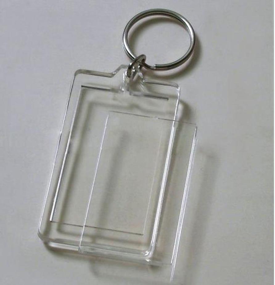 Flight Tracker 10 Stücke Blank Acryl Rechteck Keychains Einsatz Foto Schlüsselanhänger 2 x 1,25 schlüsselanhänger Kette