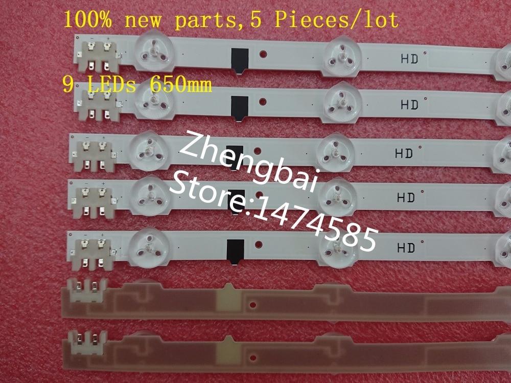 100% nuevo 5 unids * 9 LEDs 650mm retroiluminación LED D2GE-320SC0-R3 2013SVS32H para samsung UA32F4088AR CY-HF320AGEV3H UE32F5000