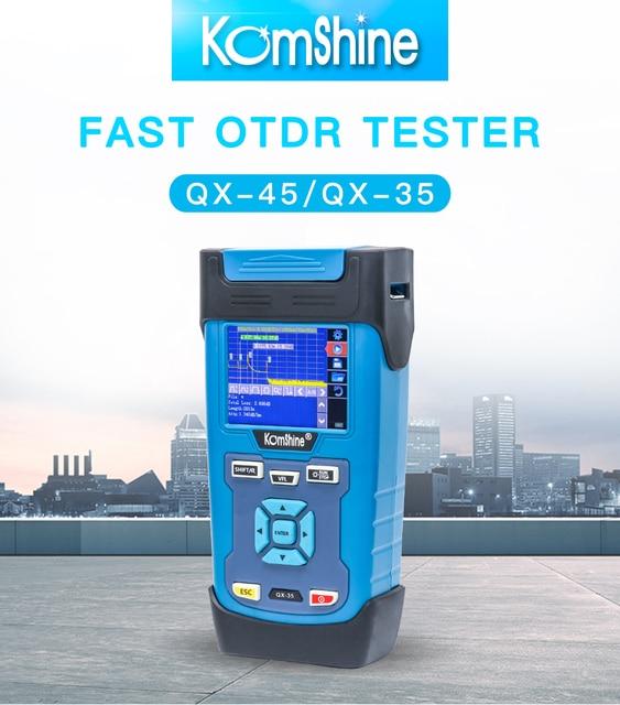 Komshine QX45 1310/1550nm 32/30dB with Portuguese & Free OTDR Launch Cable Box SM 500m FC/UPC-SC/UPC